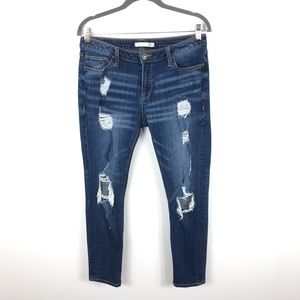 Daytrip Distressed Lynx Ankle Straight Jeans